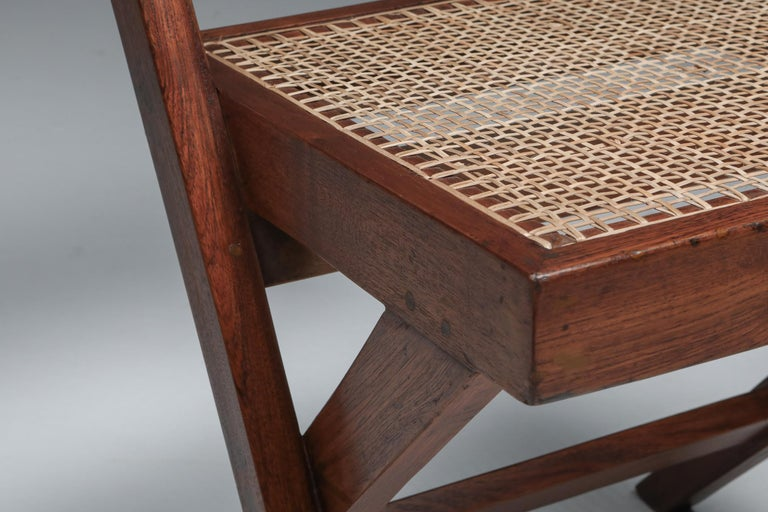 Library Chair by Pierre Jeanneret, Set of Four For Sale 5