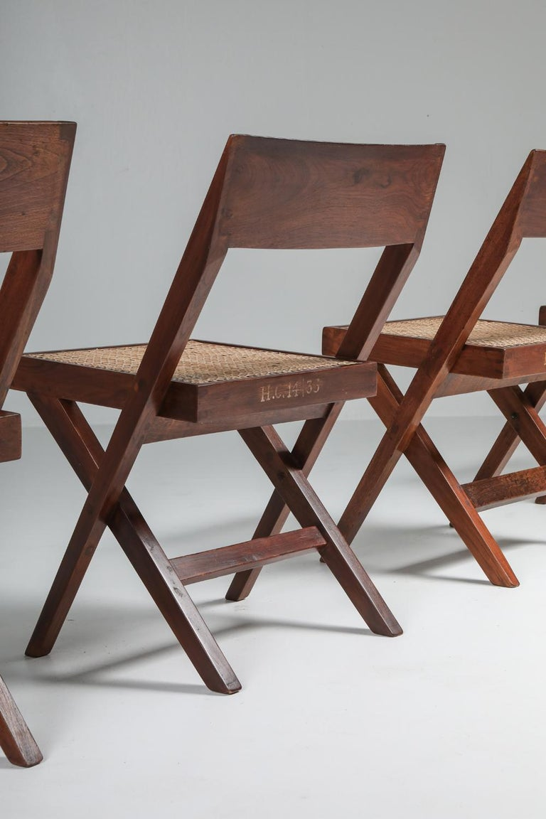 Library Chair by Pierre Jeanneret, Set of Four For Sale 6