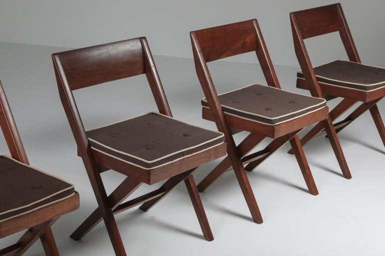 Library Chair by Pierre Jeanneret, Set of Four For Sale 9