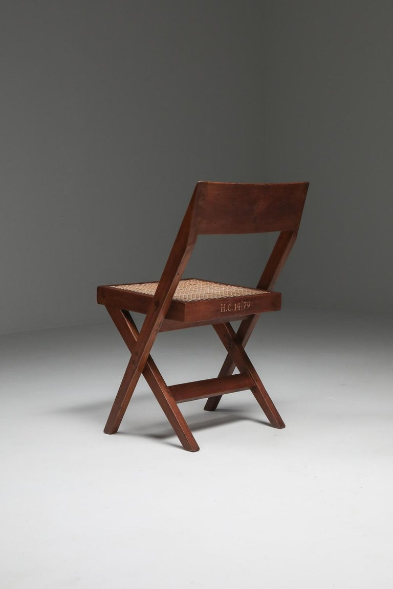 Library Chair by Pierre Jeanneret, Set of Four For Sale 10