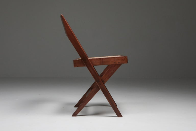 Library Chair by Pierre Jeanneret, Set of Four For Sale 1