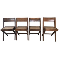 """Library"" Chairs, by Pierre Jeanneret for Chandigarh"