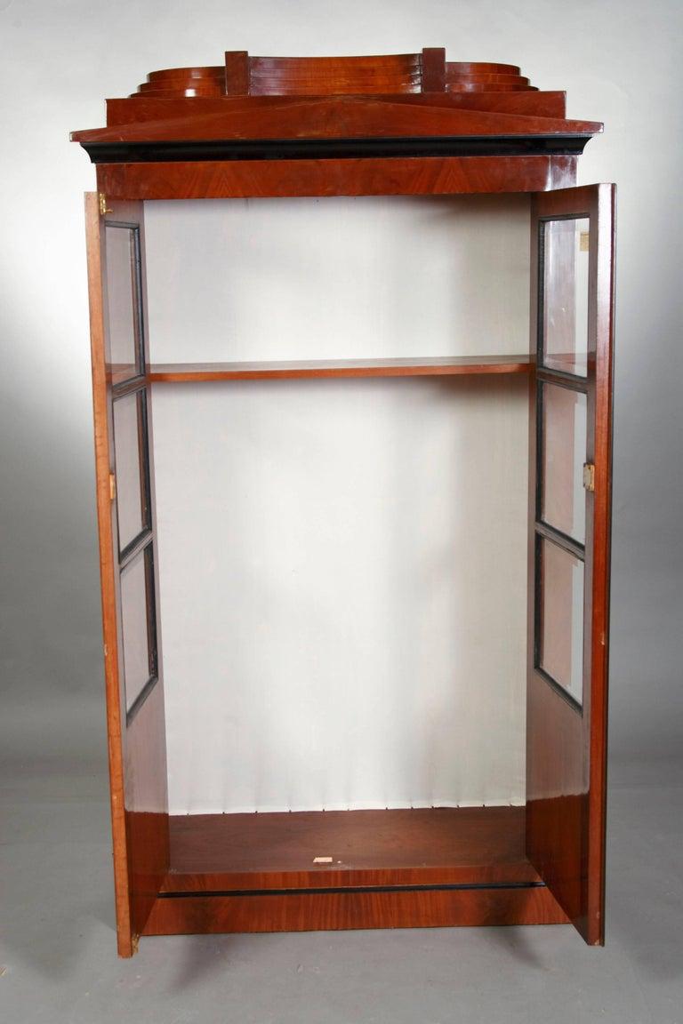 German Library/Display Cabinet in Biedermeier Style For Sale