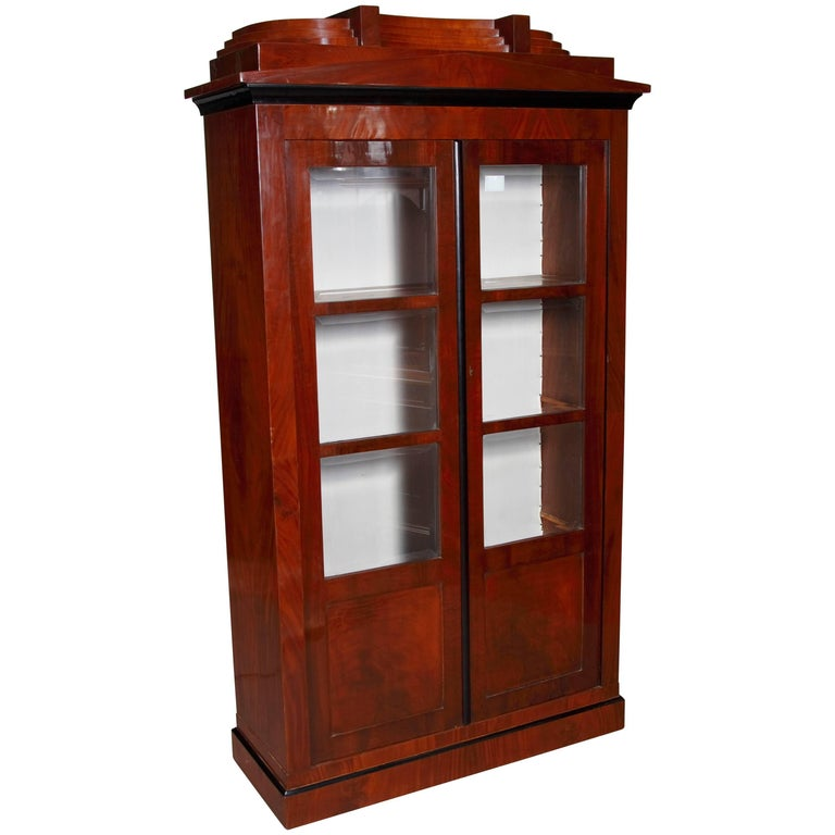 Library/Display Cabinet in Biedermeier Style For Sale
