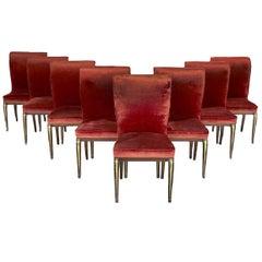 Liceu de Artes e Ofícios Set of Eight Art Nouveau Rosewood Dining Chairs