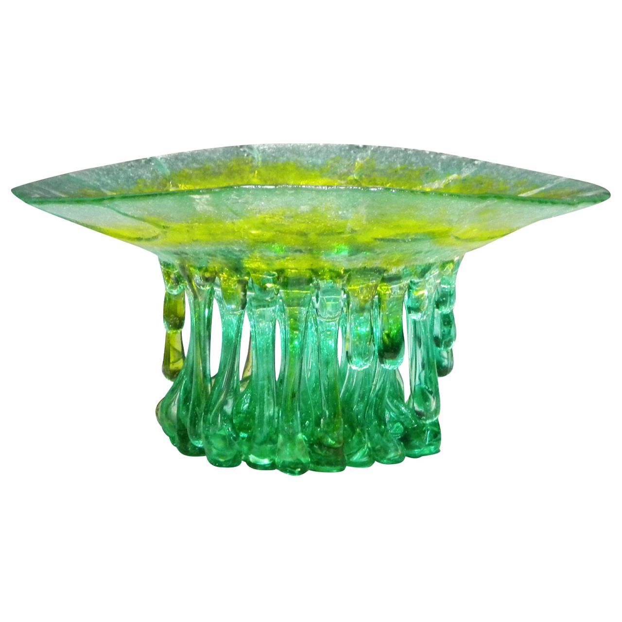 Lichene Murano Glass Sculpture