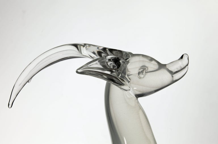 Licio Zanetti for Pauly Ibex Leaping Balsamo Stella Design, Murano 1990s, Signed For Sale 8