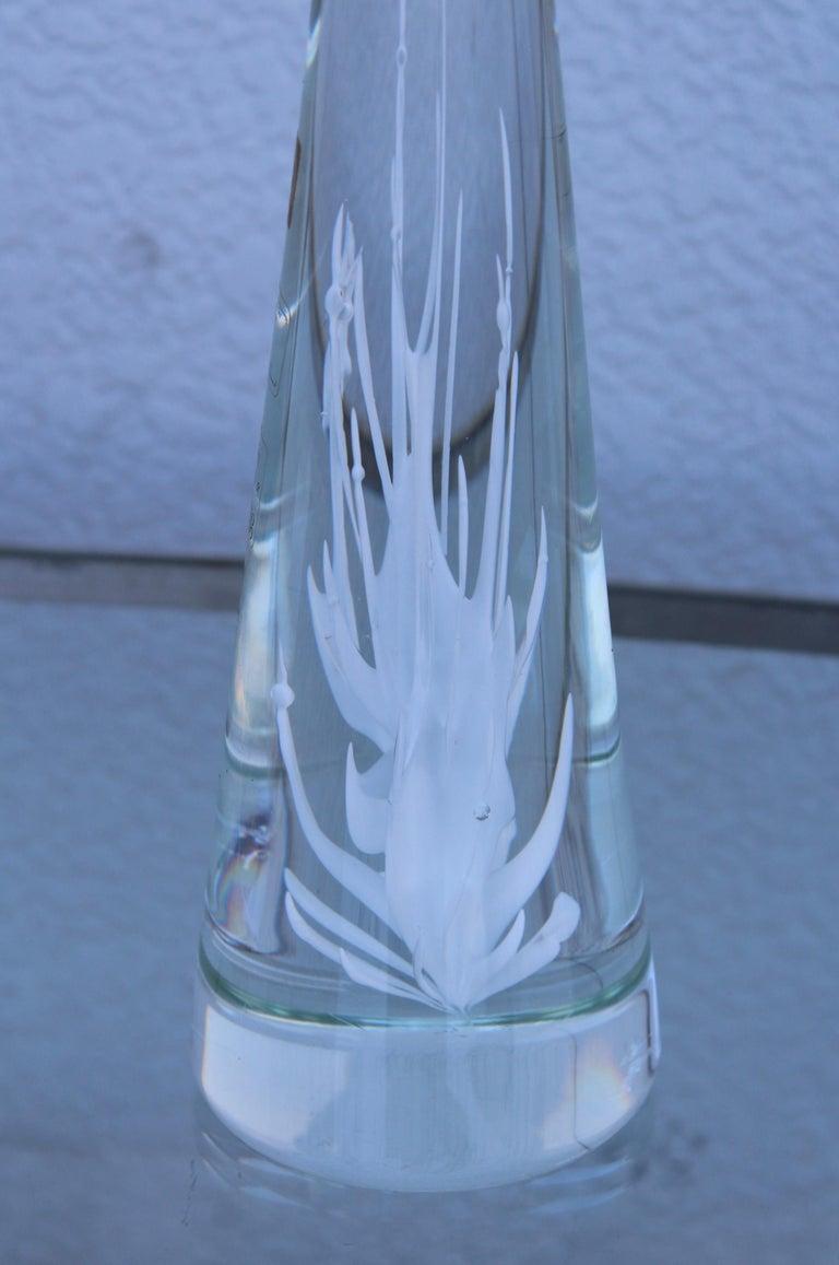 Italian Licio Zanetti Glass Murano Sculpture For Sale
