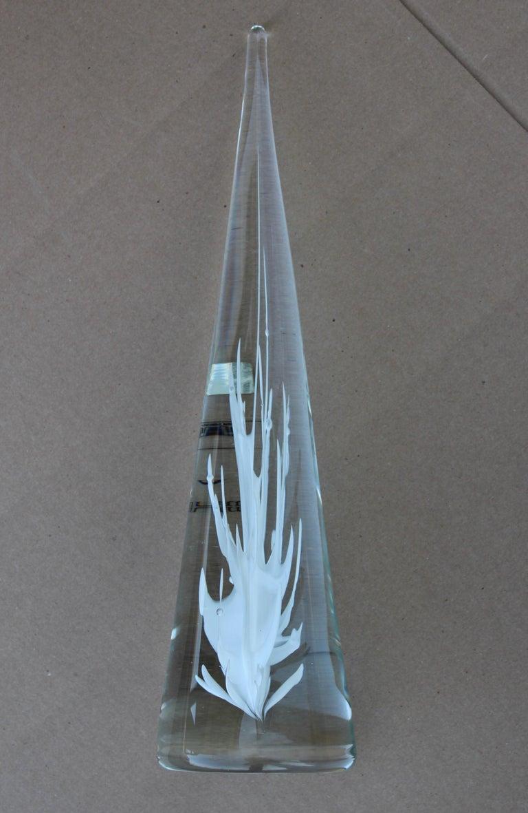 Licio Zanetti Glass Murano Sculpture In Good Condition For Sale In New York City, NY
