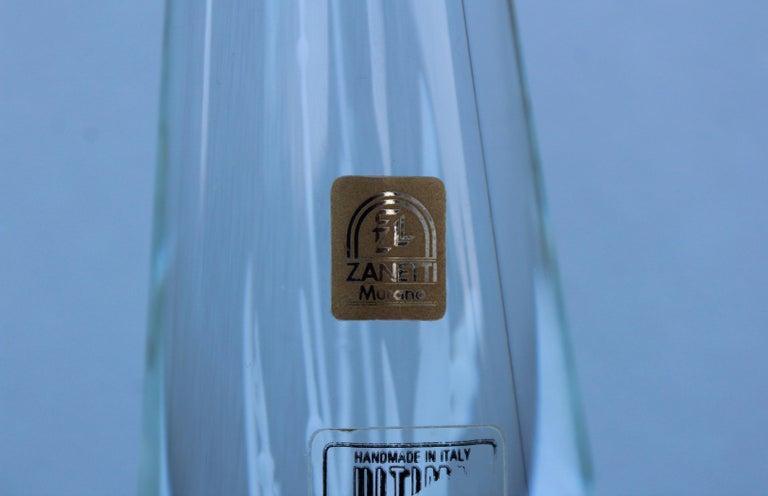 Late 20th Century Licio Zanetti Glass Murano Sculpture For Sale