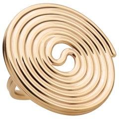 Licorice Ring, 14 Karat Yellow Gold