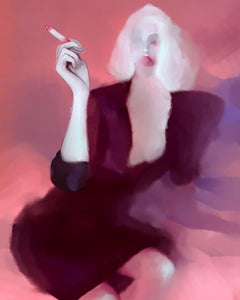A woman with cigarette