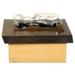 Lida Wachova Abstract Bronze Glass Sculpture