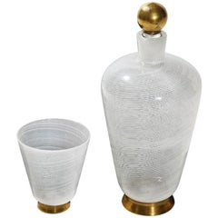Lidded Bottle with Cup by Tomaso Buzzi for Venini