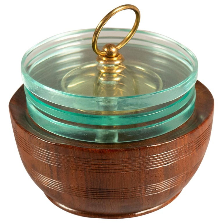 Lidded Box by Pietro Chiesa for Fontana Arte, Italy, circa 1938 For Sale