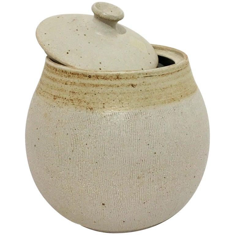 Lidded Ceramic Jar By Barbara Moorefield At 1stdibs