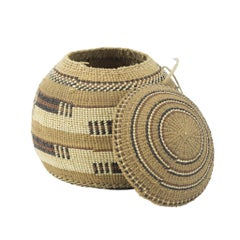 Lidded Hupa Basket