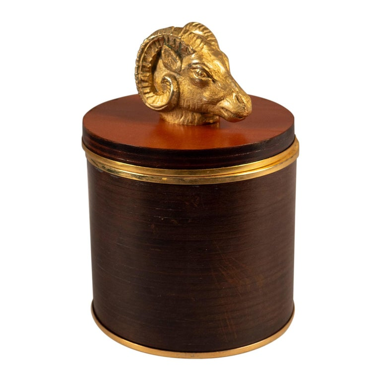 Lidded Leather Box by Gucci, Italy, 1970s For Sale