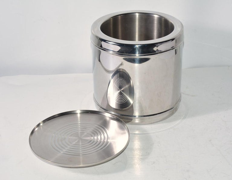American Lidded Stainless Steel Ice Bucket For Sale