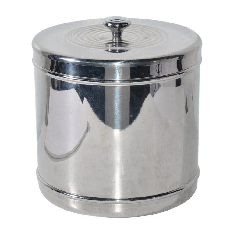 Lidded Stainless Steel Ice Bucket