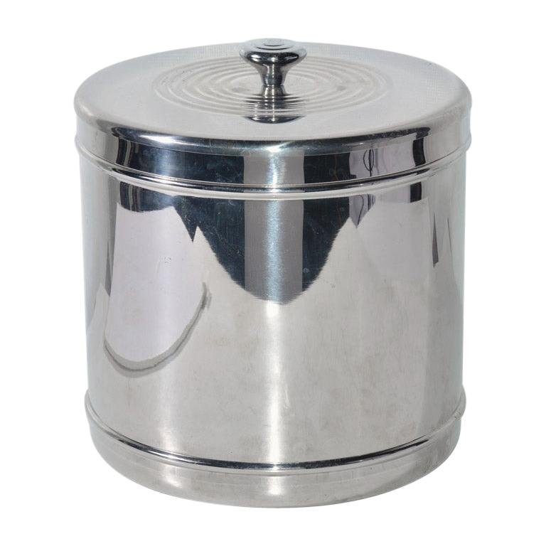 Lidded Stainless Steel Ice Bucket For Sale