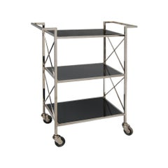 Lido Bar Cart Nickel in Nickel by CuratedKravet