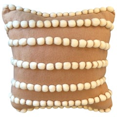 """Lido"" Beige Wool Pillow Le Lampade"