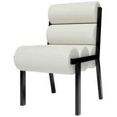 LIDO DINING CHAIR LOW - Modern Design in Leather with High Gloss Lacquer Legs