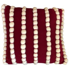 """Lido"" Red Wool Pillow"
