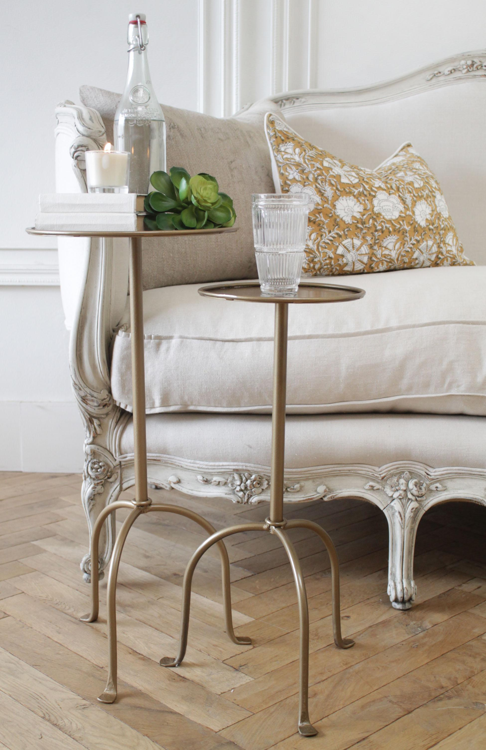 Picture of: Lido Small Drink Table In Iron Or Antique Brass Finish At 1stdibs