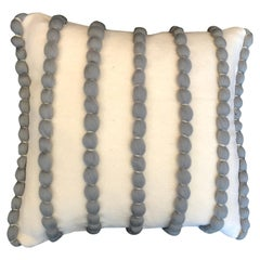 """Lido"" White & Grey Wool Pillow Le Lampade"