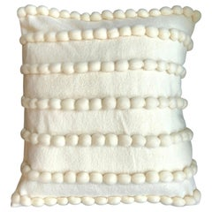 """Lido"" White Wool Pillow by Le Lampade"