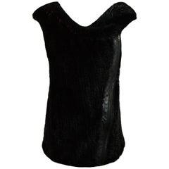 Lie Sang Bong Mink Vest with Hood sz Small