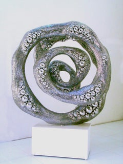 Breathe - 21st Cent, Contemporary, Abstract Sculpture, Stainless Steel, Marble