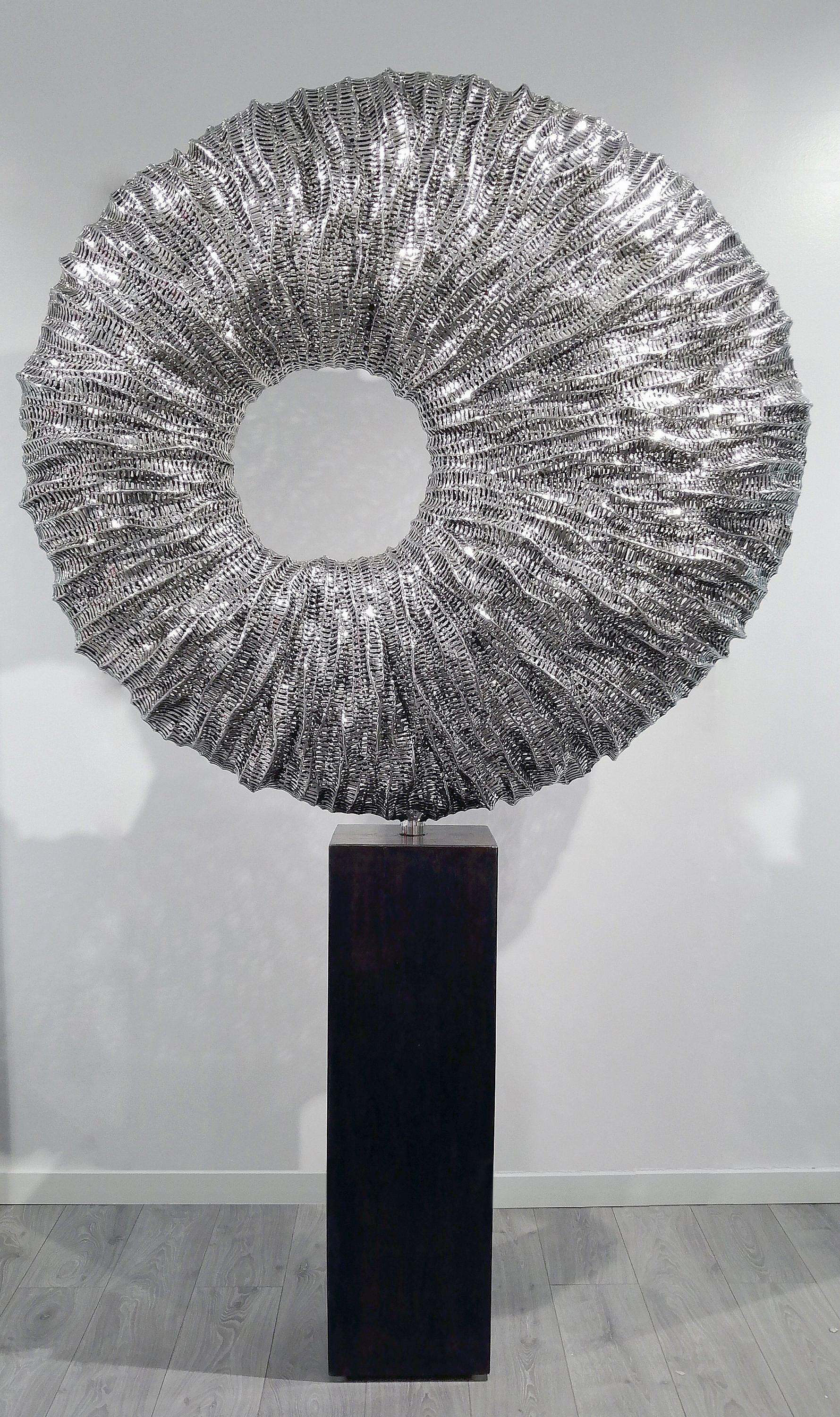 Gravity - 21st Century, Contemporary, Abstract Sculpture, Stainless Steel