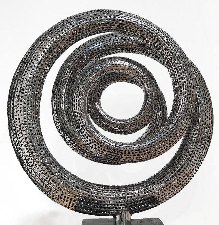 Solar - 21st Century, Contemporary, Abstract Sculpture, Stainless Steel For Sale 1