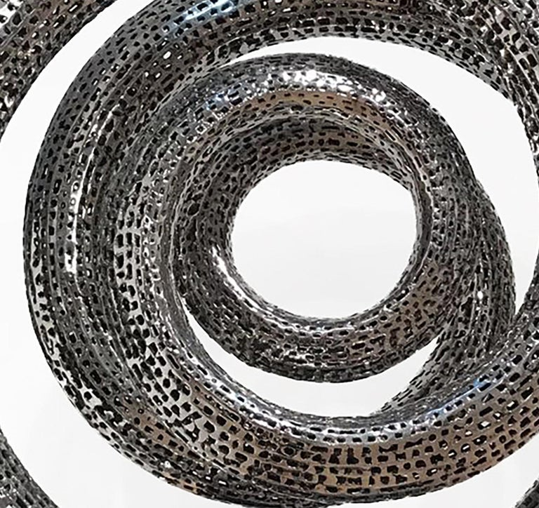 Solar - 21st Century, Contemporary, Abstract Sculpture, Stainless Steel For Sale 2