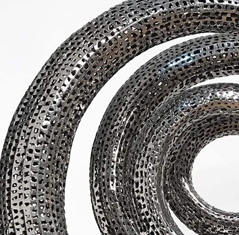Solar - 21st Century, Contemporary, Abstract Sculpture, Stainless Steel For Sale 3