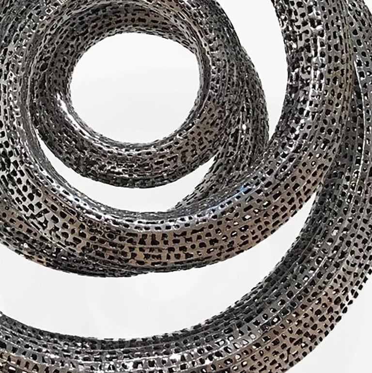 Solar - 21st Century, Contemporary, Abstract Sculpture, Stainless Steel For Sale 5