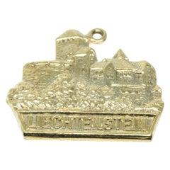 Liechtenstein Europe Vintage 9 Karat Gold Charm