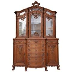 Liegeois Buffet Cabinet Made of Oak, circa 1910