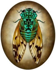 Cicada, 2020. Oil on canvas, 30 x 24 cm