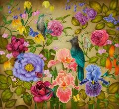 Moon Garden, 2020. Oil on canvas, 83 x 90 cm