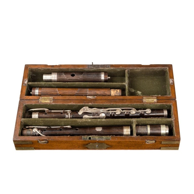 Lieutenant Rabett's Seagoing Silver Flute, 1823 In Good Condition For Sale In Lymington, Hampshire