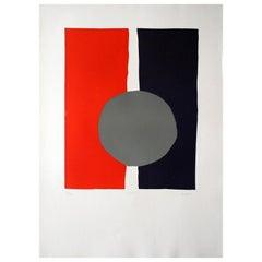 """Lifar 6"" Original Bauhaus Artist Linocut Print, Signed Werner Graeff"