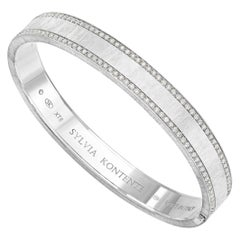 """Life"" 18 Karat White Gold and Diamond Bracelet, XT8W"