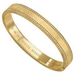 """Life"" 18 Karat Yellow Gold and Diamond Bracelet, XT8"
