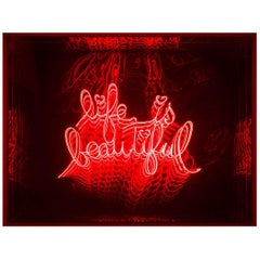 Life is Beautyful Infiny Wall Decoration Mirror with LED Lights
