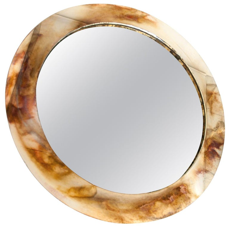 Life Mirror, Bronzed-Glass Silvered Frame, Mirror For Sale