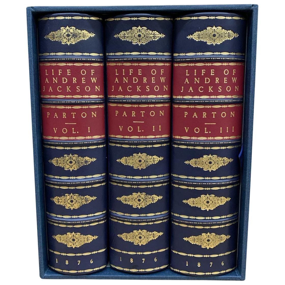 Life of Andrew Jackson by James Parton 3-Volume Leather Set, 1876